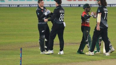 Photo of New Zealand hits back in T20 series as Bangladesh crumble with joint second-lowest total   AP