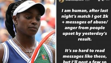 Photo of Tennis Star Sloane Stephens Said She Got 2,000 Abusive Social Media Messages After Losing Her US Open Match   Claudia Koerner